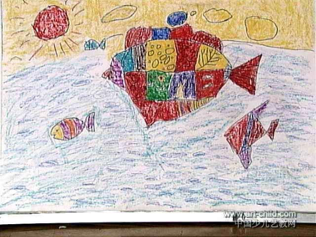 年年有余儿童画4幅