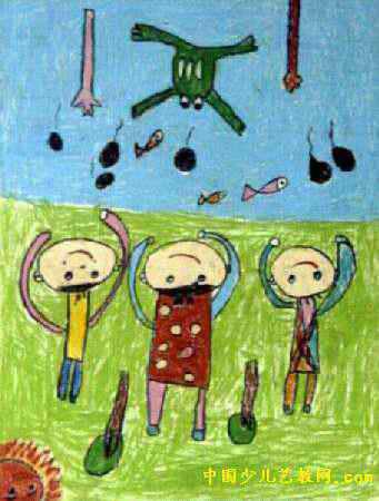 我们一起长大儿童画