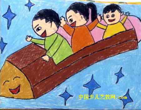 太空旅游儿童画4幅 第3张