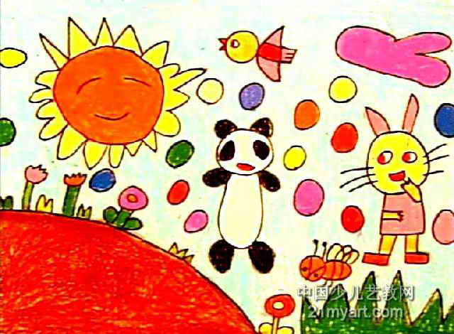 旅游儿童画3幅(第2张)