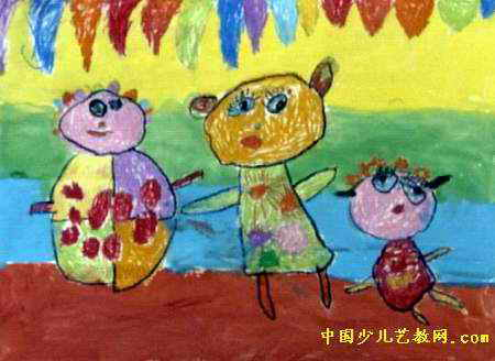 我的布娃娃儿童画