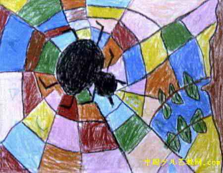 织布儿童画