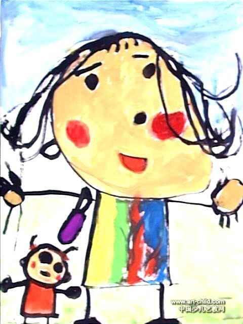 我和妈妈儿童画6幅(第3张)
