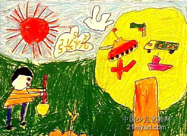 我的梦想儿童画 二 5幅