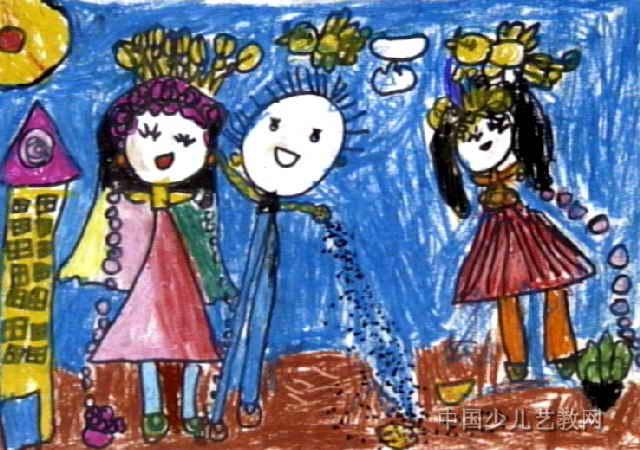 小公主与小王子儿童画图片
