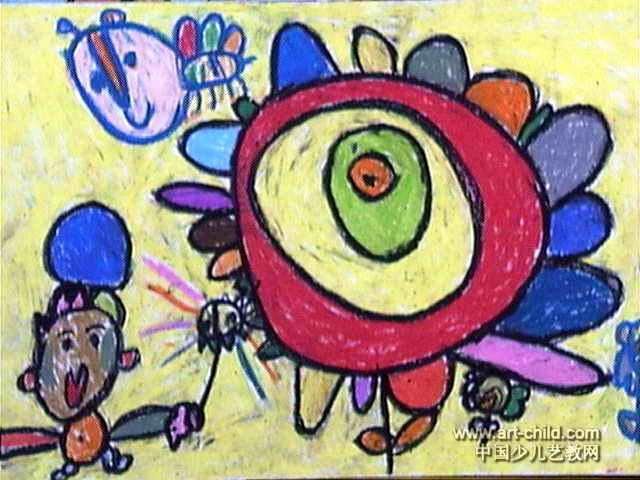 棒棒糖儿童画3幅(第2张)图片