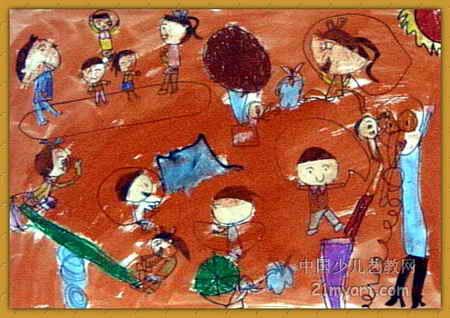 体育运动儿童画