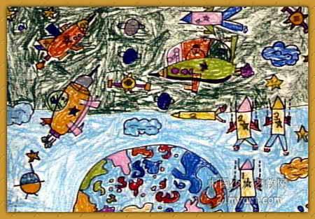 奇妙的太空儿童画图片