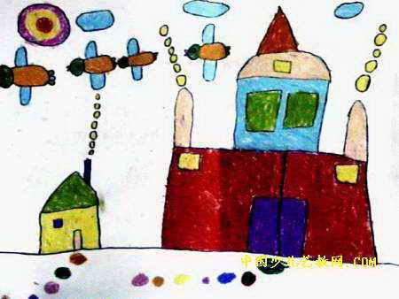 房子儿童画5幅 第4张