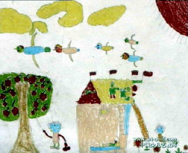 我的家儿童画(三)8幅(第4张)