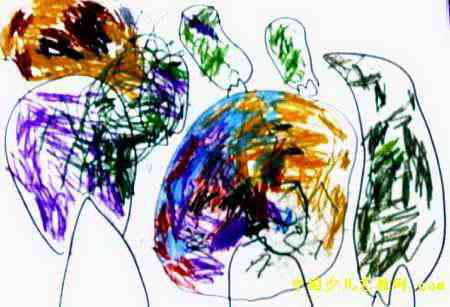 树林儿童画6幅 第3张