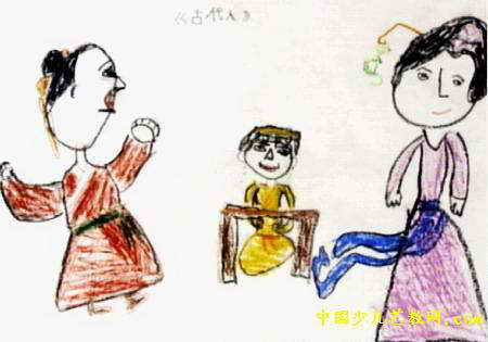 古代人儿童画q漫画猪版图片