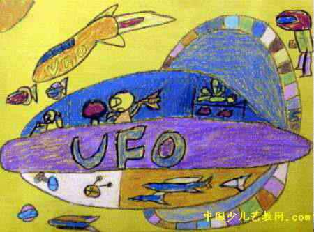 ufo画-飞碟儿童画2幅