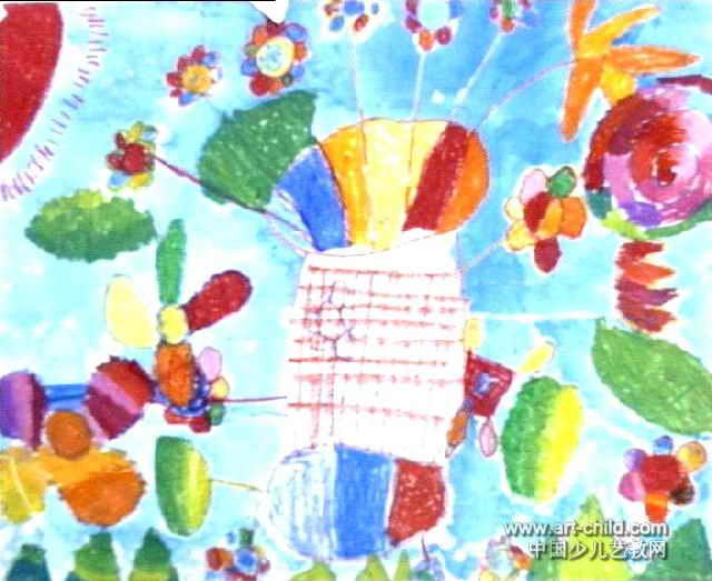 花瓶儿童画 三 7幅 第3张