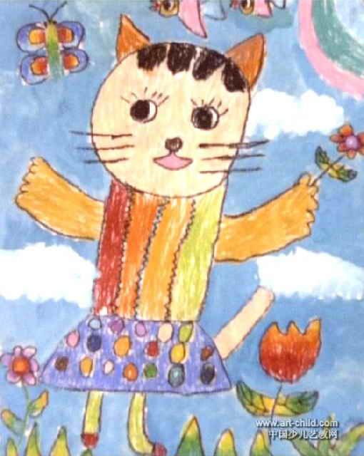 漂亮的衣服儿童画作品欣赏