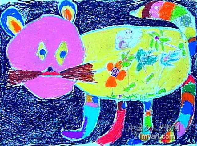 可爱的小猫儿童画3幅