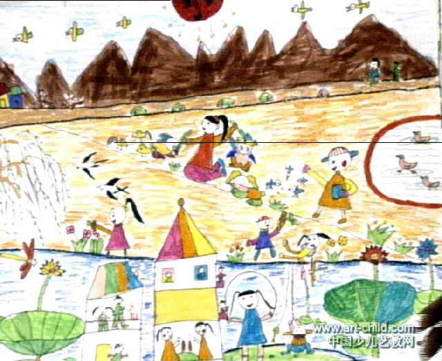 我的家乡儿童画15幅 第13张