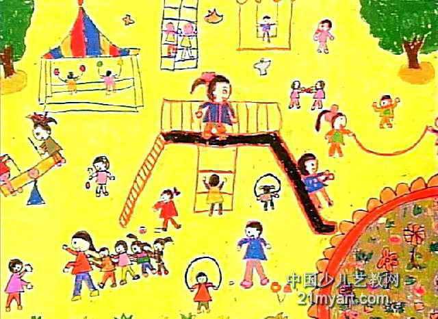 我爱我的幼儿园儿童画