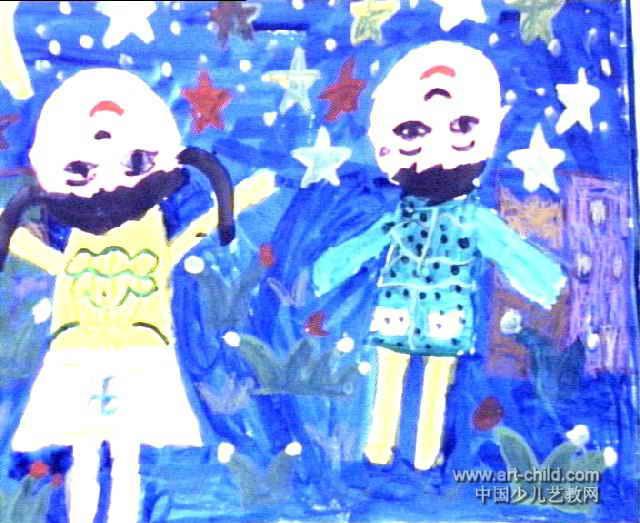 望星空儿童画2幅