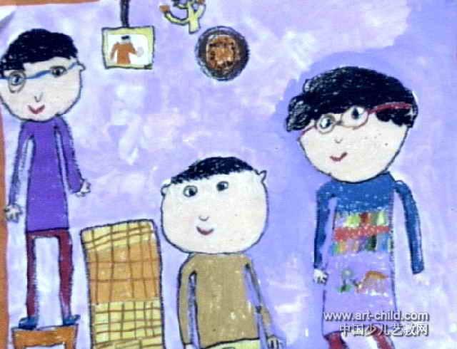 全家福儿童画(二)5幅