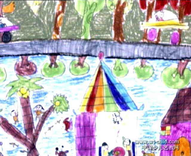 好风光油画棒儿童画