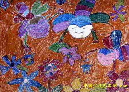 蜜蜂采蜜儿童画3幅(第2张)