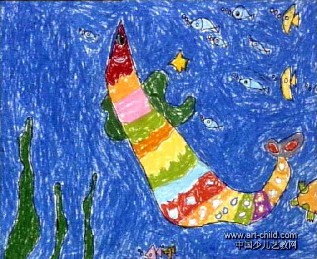 夜晚儿童画3幅 月亮床儿童画2幅