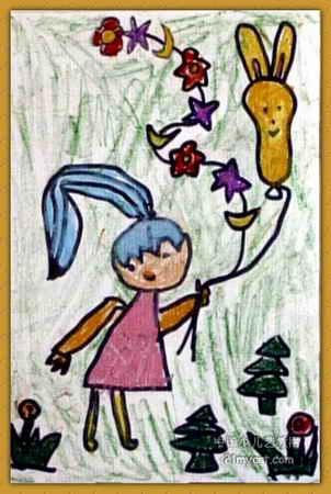 送给老师儿童画
