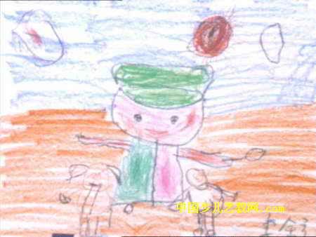 我想当警察儿童画