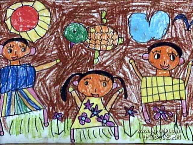 全家福儿童画(二)5幅(第3张)