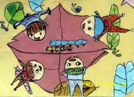 小蚂蚁,你好吗 儿童画