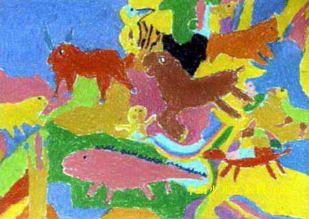 动物世界儿童画10幅(第6张)图片
