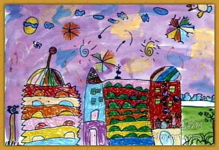 我们的新幼儿园儿童画2幅