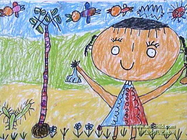 种发型儿童画2幅男日系中长小树图片