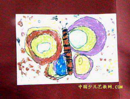 儿童画 河南省/春天来了儿童画,此幅油画棒画尺寸为343x450像素,作者尚润泽...