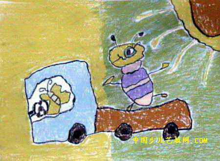 我开车,你来坐儿童画