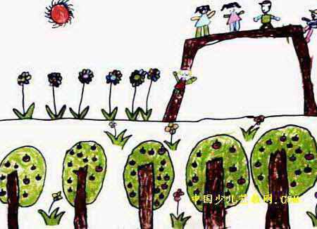 滑滑梯儿童画8幅 第7张