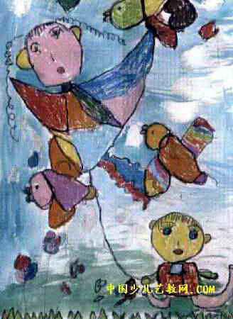 我做的风筝儿童画