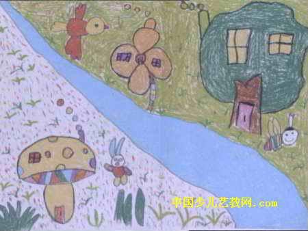 神奇的房子儿童画图片图片