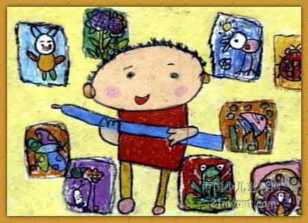 我是小画家儿童画4幅(第3张)图片