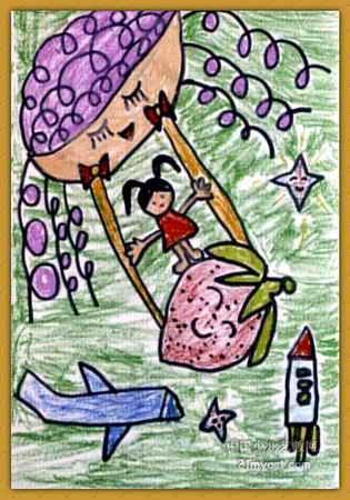 飞天儿童画4幅(第3张)