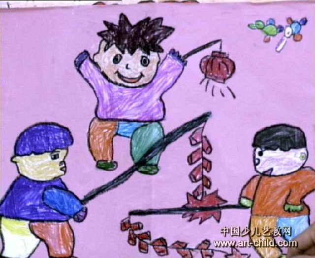 庆新年儿童画6幅(第4张)