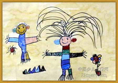 新潮发型儿童画