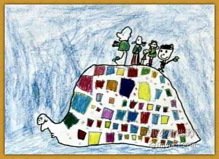 去旅行儿童画9幅