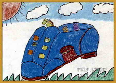 神奇的太空儿童画展示图片