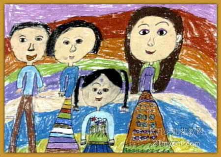我的一家儿童画(四)7幅(第6张)图片