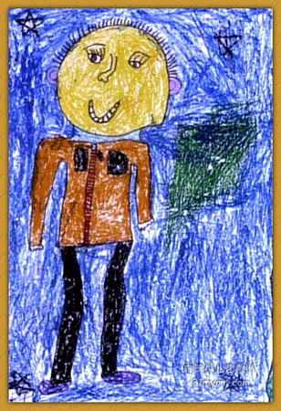 我长大了儿童画属于油画棒画,长450px,宽308px,作者王之源,男,5岁,就读新密市实验幼儿园.