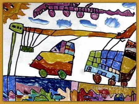 新世纪的汽车儿童画