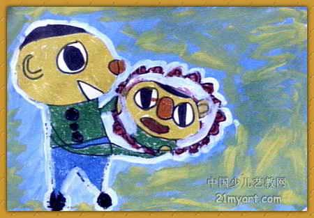 照镜子儿童画(第5张)