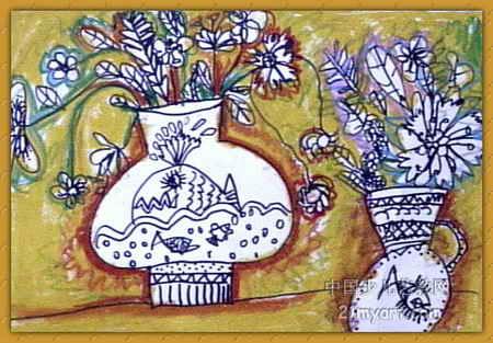 花瓶儿童画 三 7幅 第6张